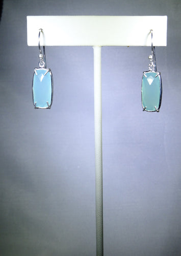 Rectangular Drop Earring- Light Blue