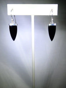 Triangular Drop Earring- Black