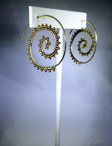 Spiral Dotted Earring