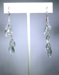 Sterling silver earring with clear drops