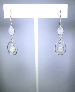 Sterling silver earring, delicate swirling white