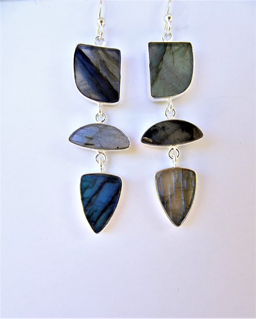 Labradorite Geometric Earrings