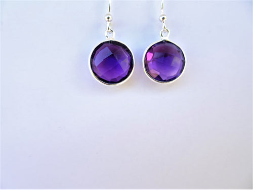 Circular Amethyst Earrings