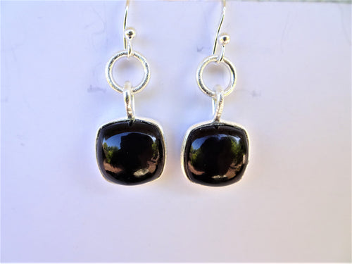 Smoky Quartz Square Earrings