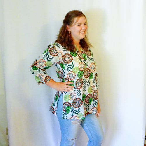 Daisies Cotton Tunic