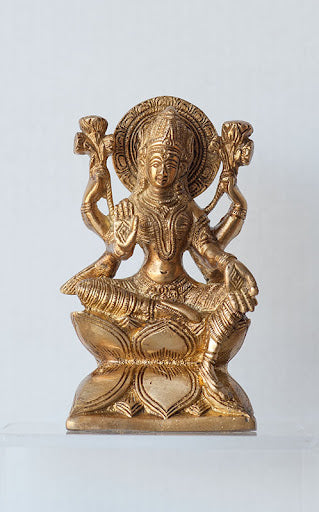 Lakshmi on Lotus - Medium