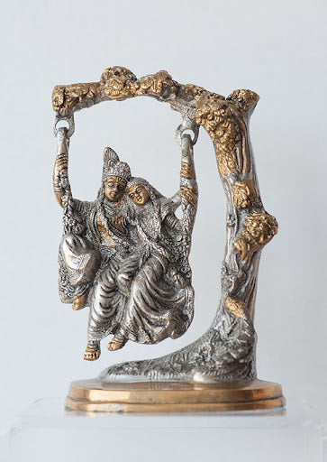 Radha Krishna on Swing - Medium