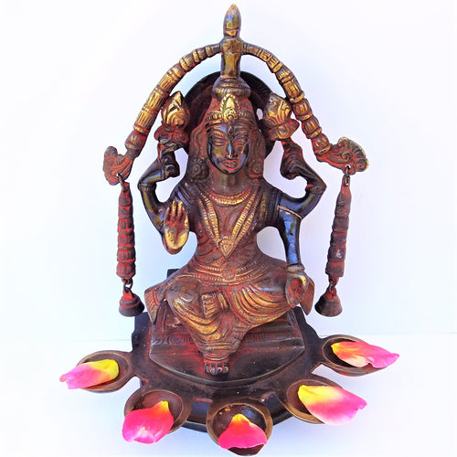 Red Lakshmi Lamp - Medium