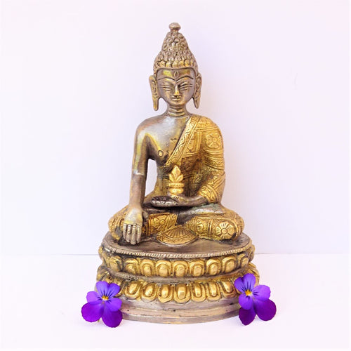 Two Tone Medicinal Buddha on Lotus - Medium