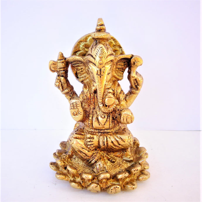 Ganesh on Lotus - Mini