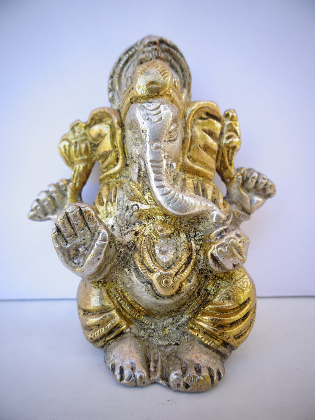 Two Tone Ganesh with Hat - Small