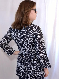 Zebra Cotton Tunic