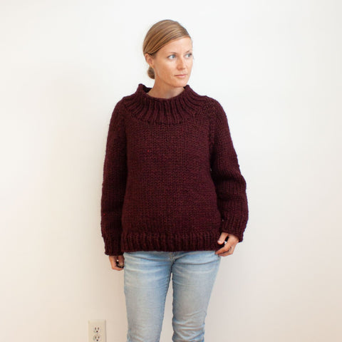 Winston Pullover KAL / Funnel Neck Modification