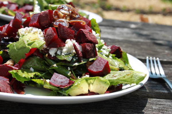 Jane Richmond Blog - In the Garden, Beet and Goat Cheese Arugula Salad