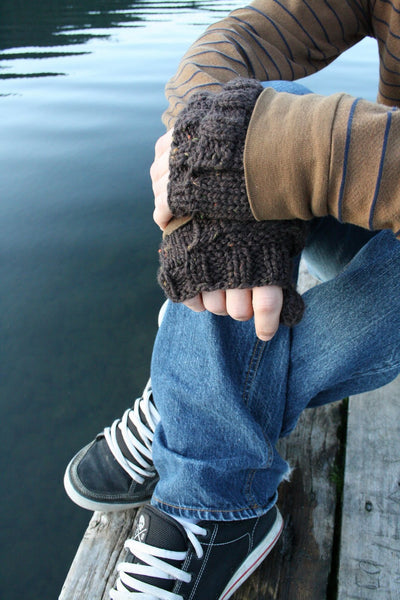 Quick Mittens for Men knitting pattern by Jane Richmond
