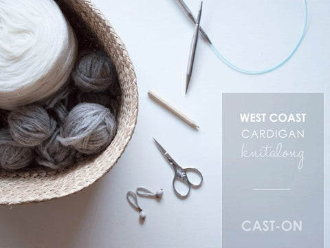 West Coast Cardigan KAL / Cast-On