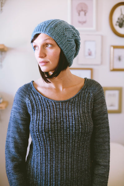 Palladio pullover by Jane Richmond from the SEASONLESS: Mini Collection, Volume 1 by Jane Richmond and Shannon Cook #SEASONLESSknits #knitting #eBook #book #patterns