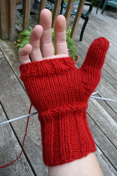 jane richmond blog - on my needles, red is best