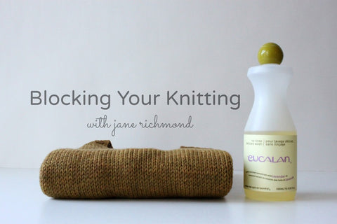 Blocking Your Knitting with Jane Richmond