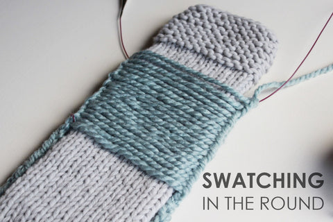 Swatching in the round with Jane Richmond