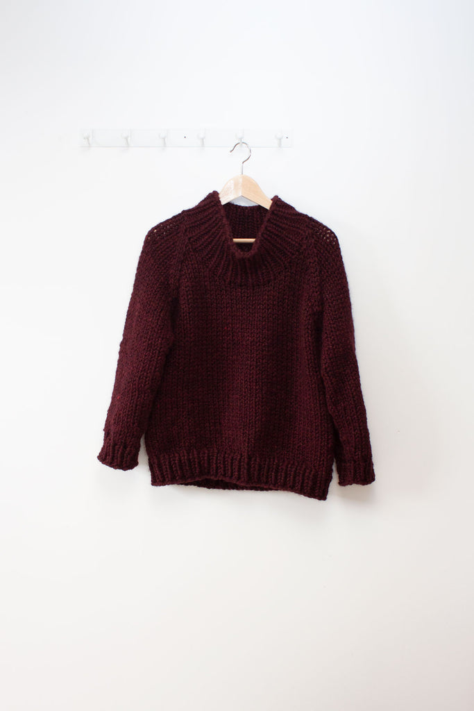 Winston Pullover with Funnel Neck / knitting pattern by Jane Richmond
