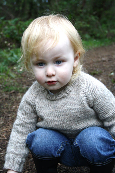 Child's Classic Raglan Pullover knitting pattern by Jane Richmond