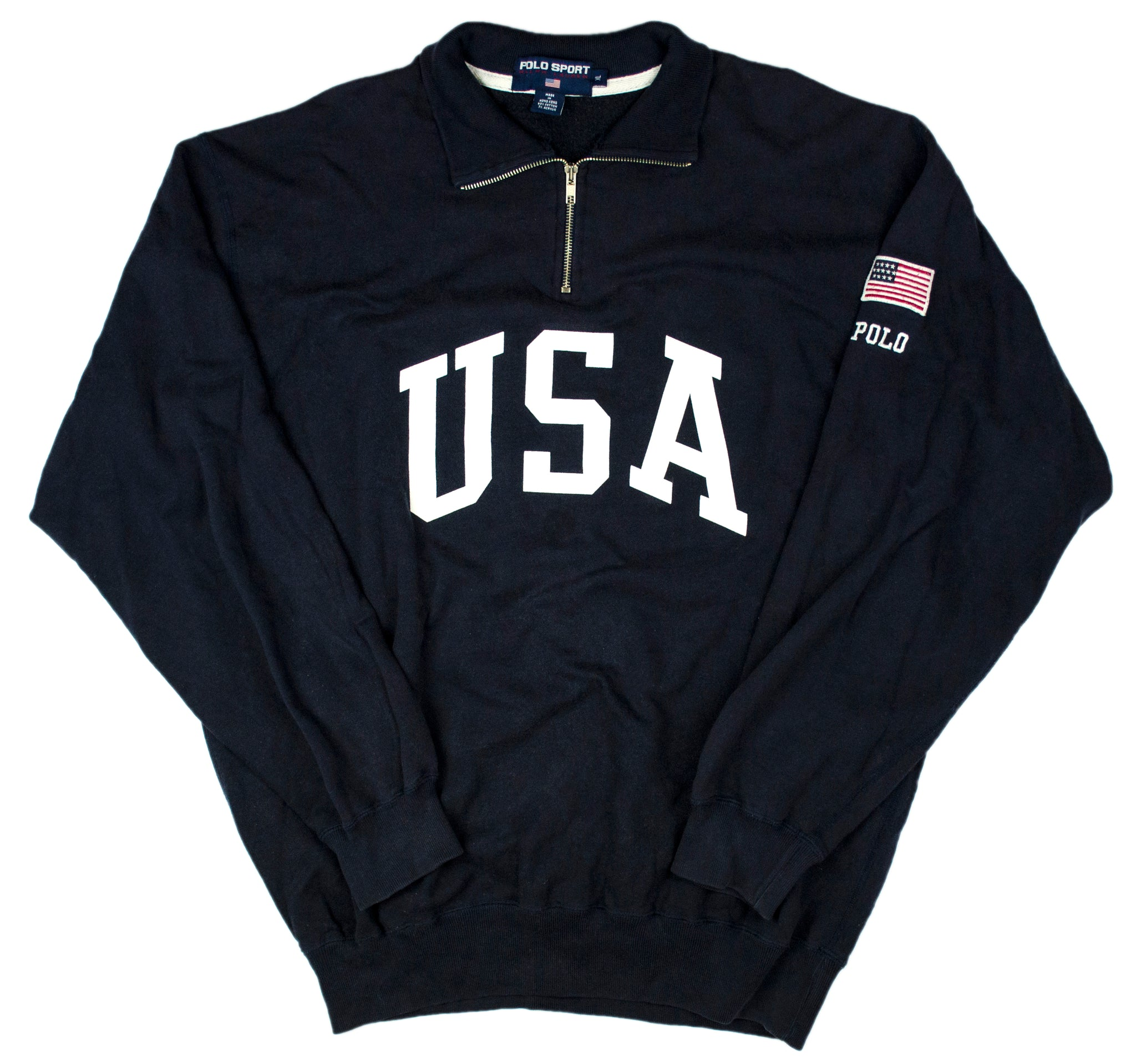 "Vintage Polo Sport ""USA"" 1/4 Zip Pullover"
