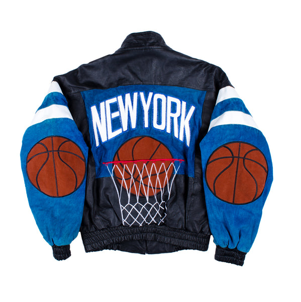 "Vintage ""NEW YORK"" Basketball Leather Jacket"