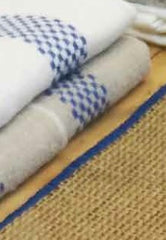LUSTUCRU LINEN KITCHEN TOWEL, BLEU