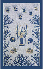 AQUARIUS KITCHEN TOWEL, BLEU