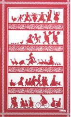 SILHOUETTES KITCHEN TOWEL, ROUGE