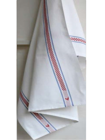 PUR COTON KITCHEN TOWEL, VICHY/COQ
