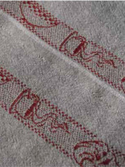 BREAKFAST LINEN TABLE RUNNER, ROUGE