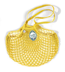 COTTON STRING BAG WITH LONG HANDLES, JAUNE SOLARIUM