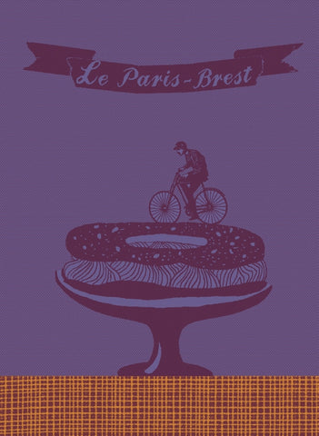 MOUTET PARIS-BREST KITCHEN TOWEL, AUBERGINE/LUPIN