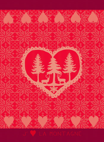MOUTET MONTAGNE COEUR KITCHEN TOWEL