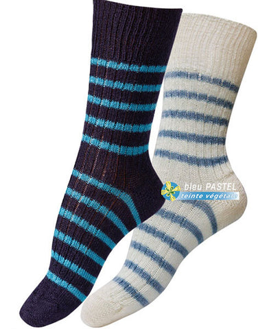 MOHAIR STRIPED SOCKS