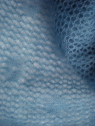MOHAIR AND SILK SHAWL, BLEU PASTEL