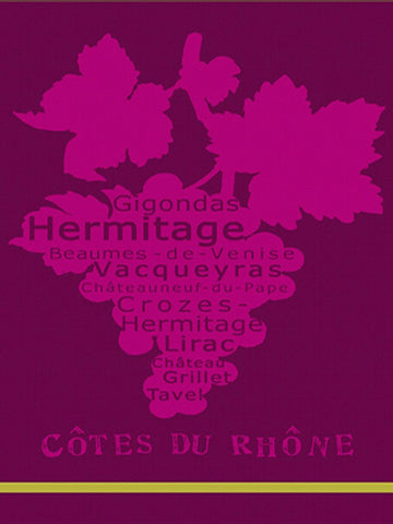 MOUTET RHONE KITCHEN TOWEL, AUBERGINE/ROSE