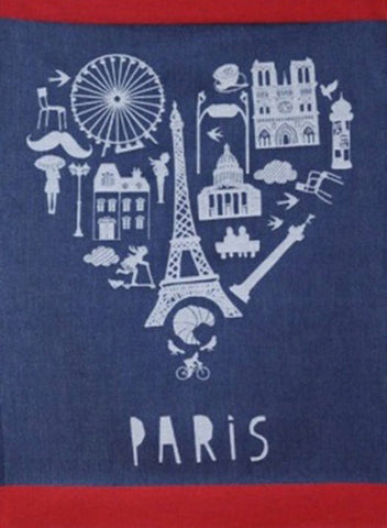 MOUTET PARIS COEUR KITCHEN TOWEL