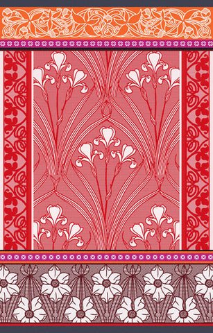 ALICE KITCHEN TOWEL, RUBIS