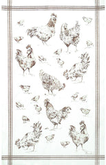 BASSE-COUR KITCHEN TOWEL, GRIS