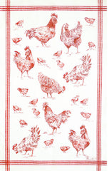 BASSE-COUR KITCHEN TOWEL, ROUGE