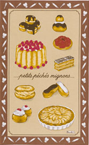 PECHES MIGNONS KITCHEN TOWEL