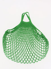 COTTON STRING BAG WITH SHORT HANDLES, VERT LAITUE
