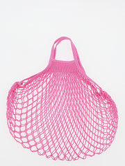 COTTON STRING BAG WITH SHORT HANDLES, SORBET