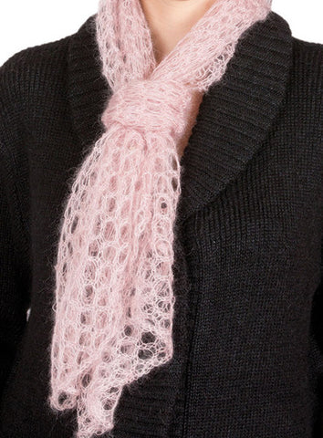 MOHAIR AND SILK OPEN WEAVE SQUARE SCARF