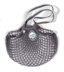 COTTON STRING BAG WITH LONG HANDLES, GRIS LEAD