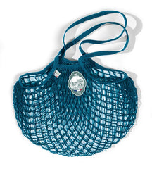COTTON STRING BAG WITH LONG HANDLES, AQUARIUS