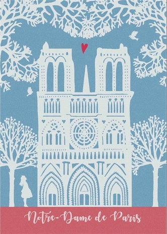 SPECIAL EDITION MOUTET NOTRE-DAME KITCHEN TOWEL